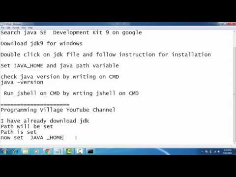 JDK-9 ( Oracle JAVA 9) installation on Windows