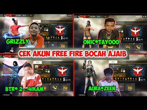 INTIP AKUN FREEFIRE BOCAH GG (Grizzly ,Onic•Tayoo,BTR•2eziKam,AURA•Zeen)