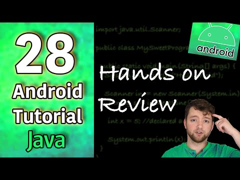 Android App Development Tutorial 28 - Hands on Review | Java thumbnail