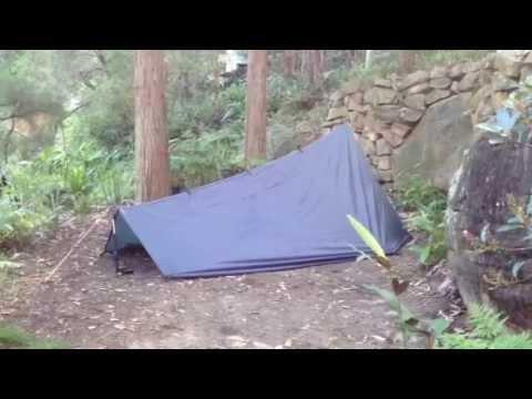 Ultralight tarp tent - DD 3 x 3 tarp / Netting Tent / Exped Down Mat for solo c&ing - YouTube & Ultralight tarp tent - DD 3 x 3 tarp / Netting Tent / Exped Down ...