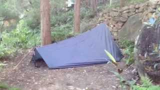Ultralight tarp tent - DD 3 x 3 tarp / Netting Tent / Exped Down Mat for solo camping