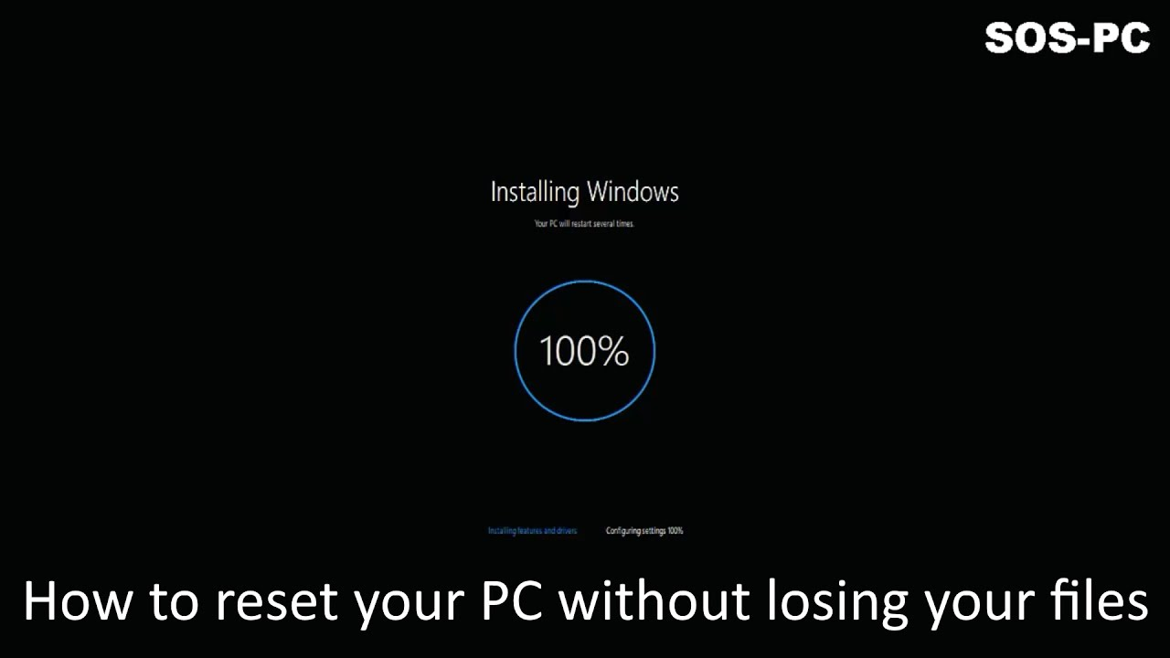How to reinstall windows 10 without losing your files