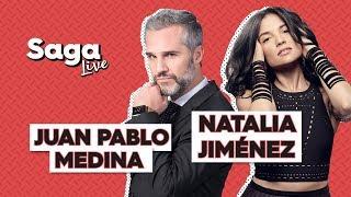 #SagaLive Natalia Jiménez y Juan Pablo Medina con Adela Micha.