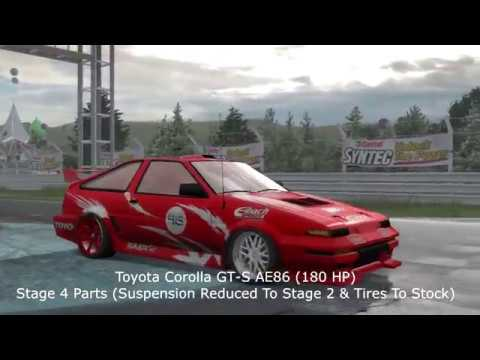 Need For Speed ProStreet - 10 Great Drift Cars (Setups In Description)