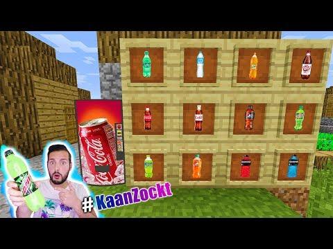 NEUER GETRÄNKEAUTOMAT IM DORF BEI MINECRAFT! Coca Cola, Powerade, Sprite, Fanta in Minecraft kaufen