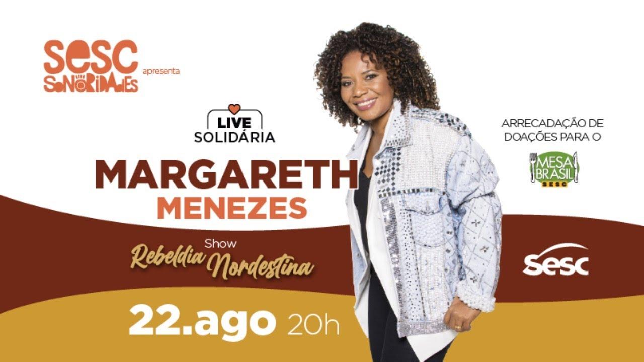 Live Solidária - SESC Margareth Menezes