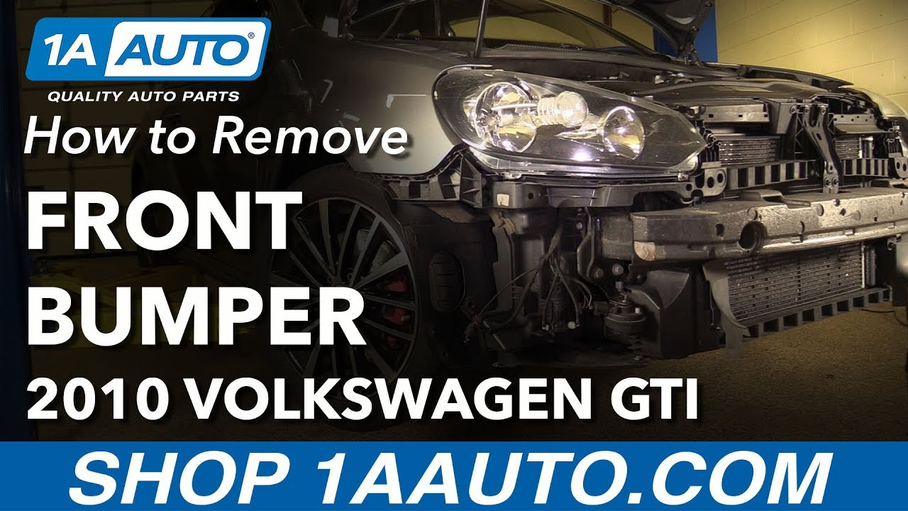 How To Remove Front Bumper 10 14 Volkswagen Gti Youtube