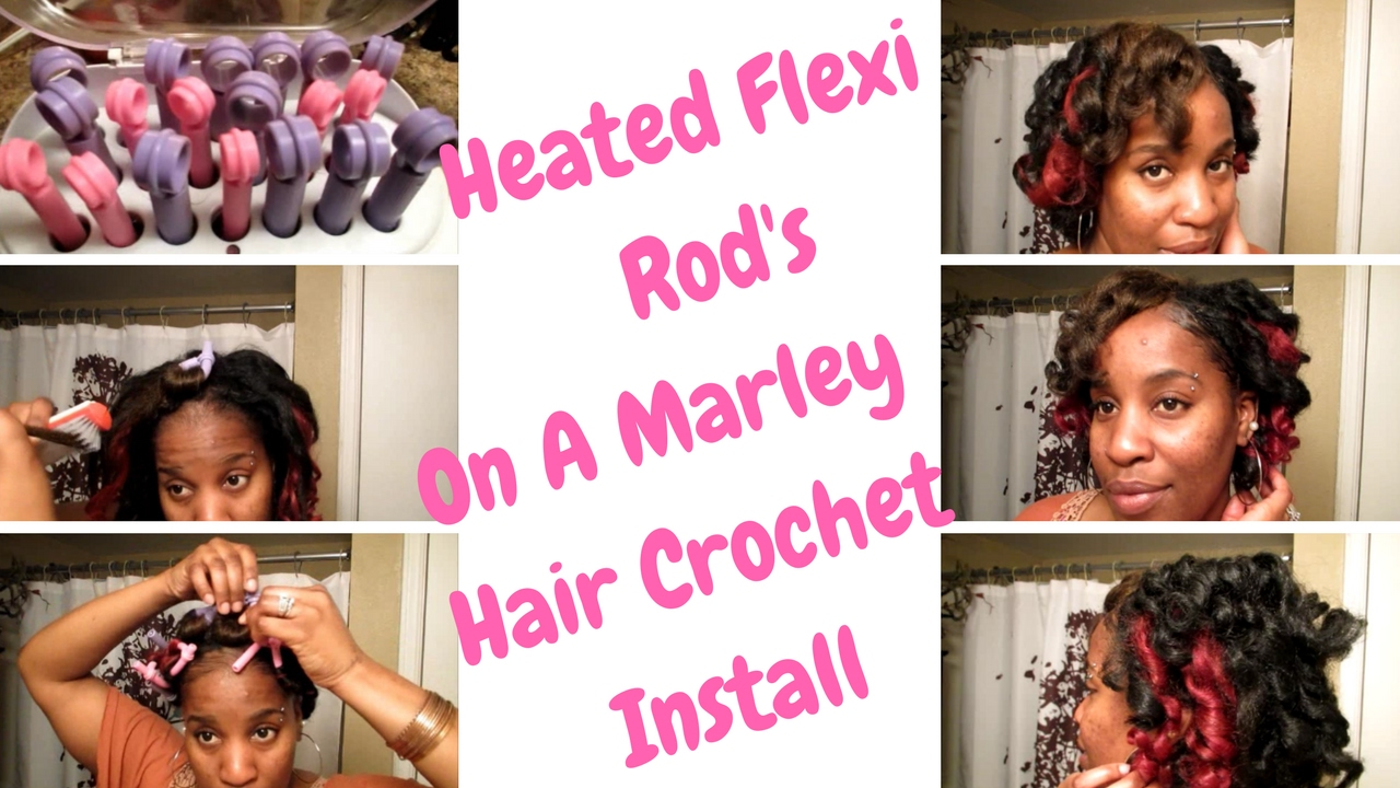 Heated Flexi Rod S On A Marley Hair Crochet Install Easy Way To Curl Open Me