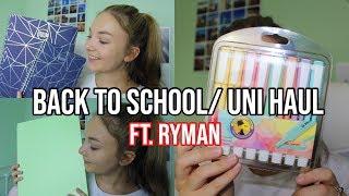 RYMAN BACK TO SCHOOL AND UNI STATIONERY HAUL AD|Sophia
