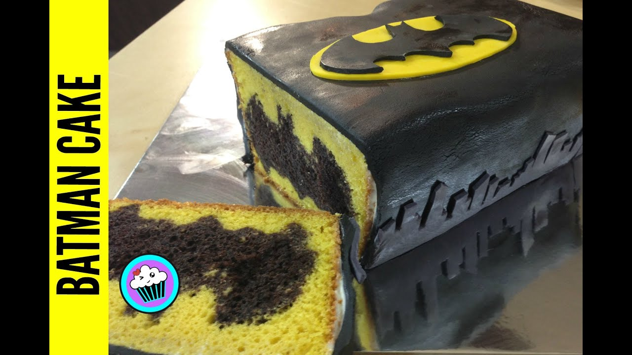 How to make Batman Cake Pinch of Luck YouTube