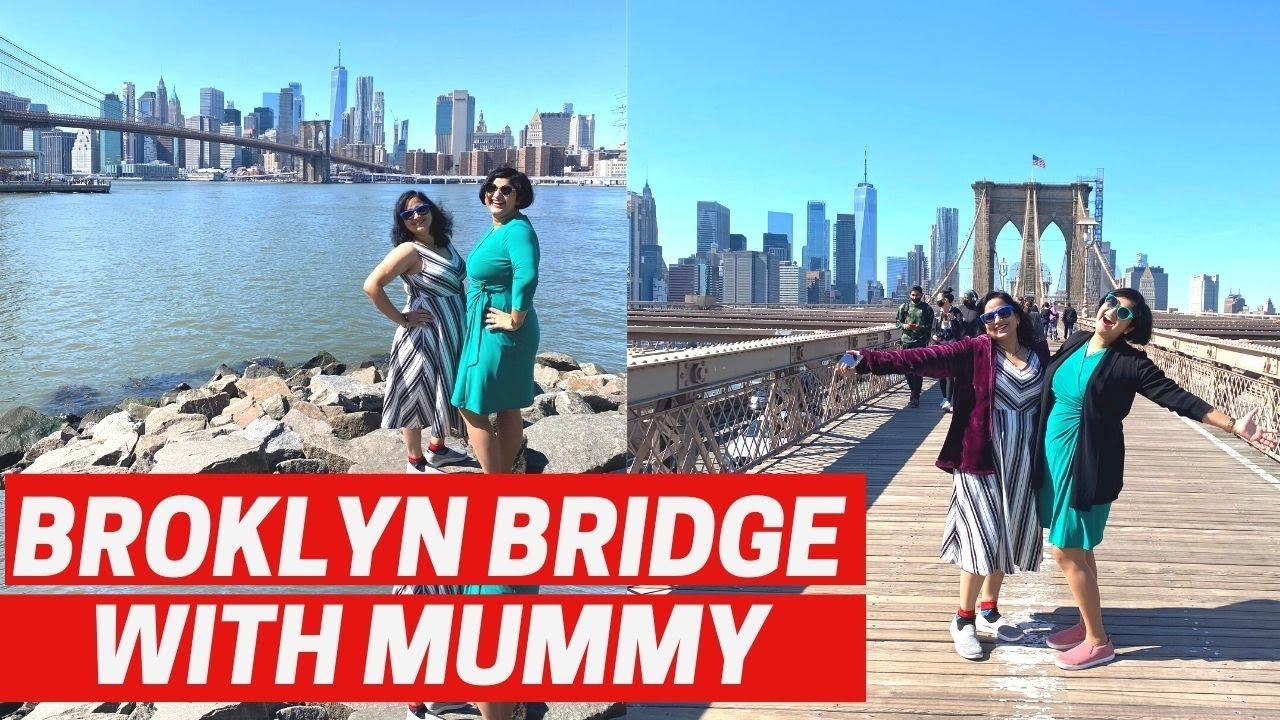Walking on the Brooklyn bridge| Albeli Ritu