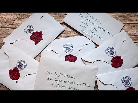 harry potter letters diy harry potter letter pauadell 22097 | hqdefault