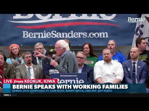 Bernie Speaks With Working Families In Keokuk, IA