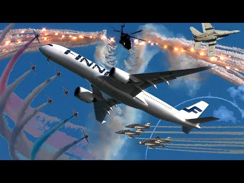 KAIVOPUISTO AIR SHOW (full) - 30 Minutes of Aviation Madness over Helsinki, Finland!