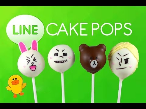 LINE Cake Pops! How to Make LINE Anime Cakepops by Cupcake Addiction