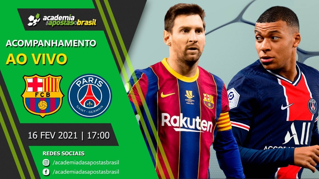 Barcelona vs Paris Saint Germain ao vivo - Liga dos Campeões