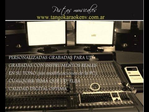 "TANGO KARAOKE - ""Soy cantor"" (Rosales-Saraceni) nuevos tangos"