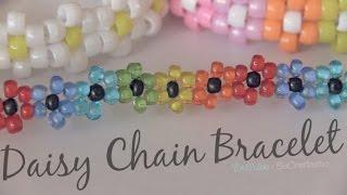 Daisy Chain Bracelet - Beaded Flower Jewelry - How To