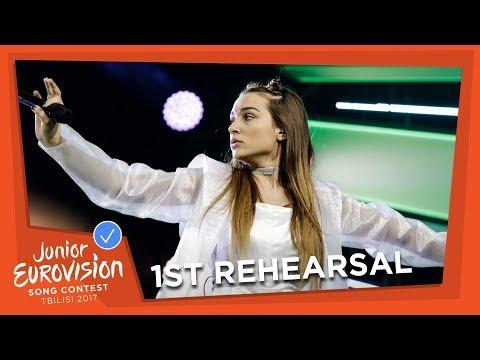 EXCLUSIVE REHEARSAL FOOTAGE - MINA BLAŽEV - DANCING THROUGH LIFE - F.Y.R. MACEDONIA 🇲🇰 - JESC 2017