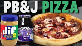 Peanut Butter and Jelly Pizza Recipe | Mythical Kitchen
