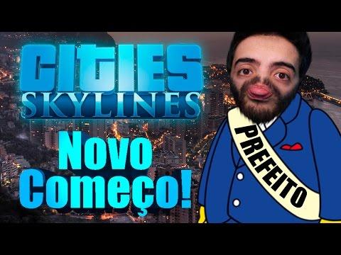 CITIES SKYLINES #1: UM NOVO INICIO PRO PREFEITO PATIFE, AGORA VAI MANOLOS! DICAS DOS INSCRITOS