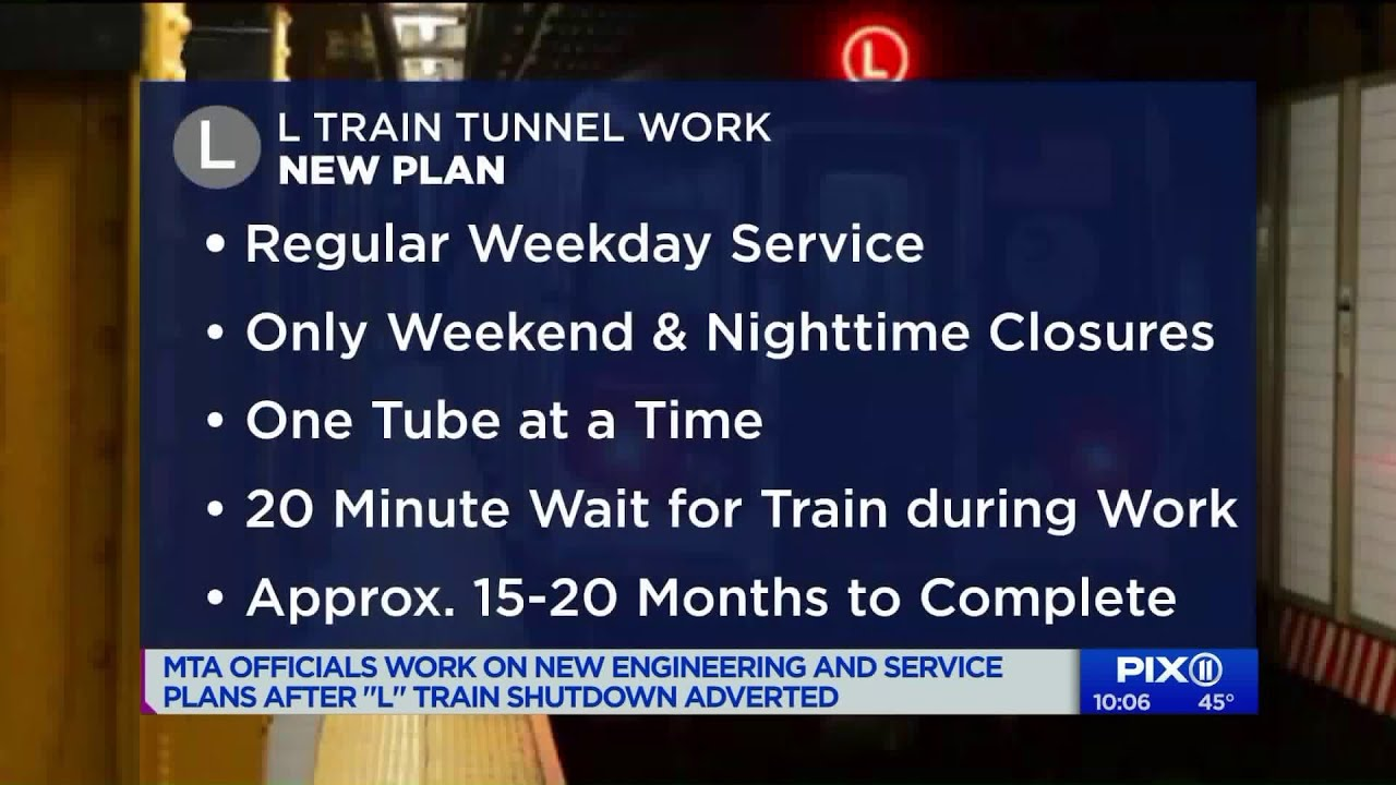 MTA officials work on new engineering and service plans after L train  shutdown adverted