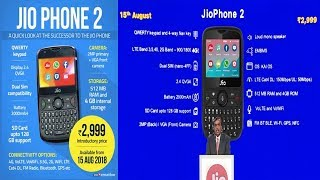 JioPhone 2 at Rs 2,999: Key features, offer and launch date  15 Aug. 2018