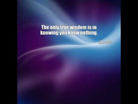 Socrates: The only true wisdom is in knowing you know ...
