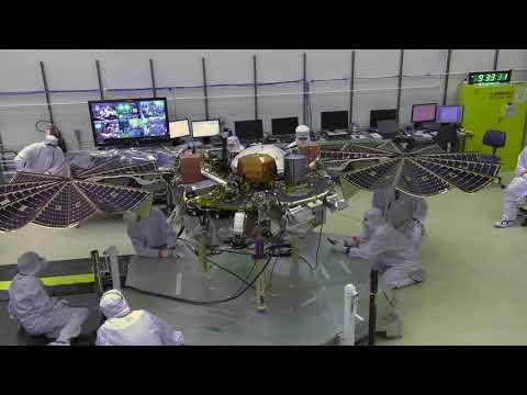 NASA's Mars InSight Lander: Solar Array Deployment Test (Time Lapse)