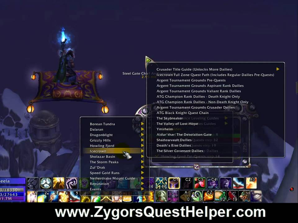 Wrath daily quest guide.