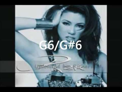 Regine Velasquez - WHISTLE notes (Eb6-B6)