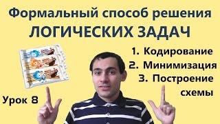 Урок 8. Формальный способ решения логических задач. Математическая логика. Видеоуроки по информатике