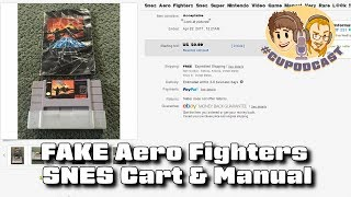FAKE Aero Fighters SNES Game & Manual (Scumbag Seller) - #CUPodcast