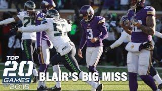 #18: Seahawks vs. Vikings (NFC Wild Card) | Top 20 Games of 2015 | NFL