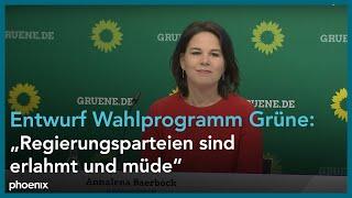 Pressekonferenz zur vorstellung des entwurfes für das #wahlprogramm von b'90/#grüne #bundestagswahl2021 mit den parteivorsitzenden annalena baerbock und ...