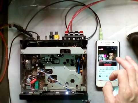 舊式卡帶汽車音響加裝AUX音源線-手機音源輸入測試 - YouTube