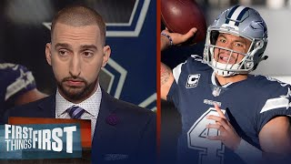 Cris Carter and Nick Wright react to Dak's performance in Cowboys Week 12 loss | FIRST THINGS FIRST
