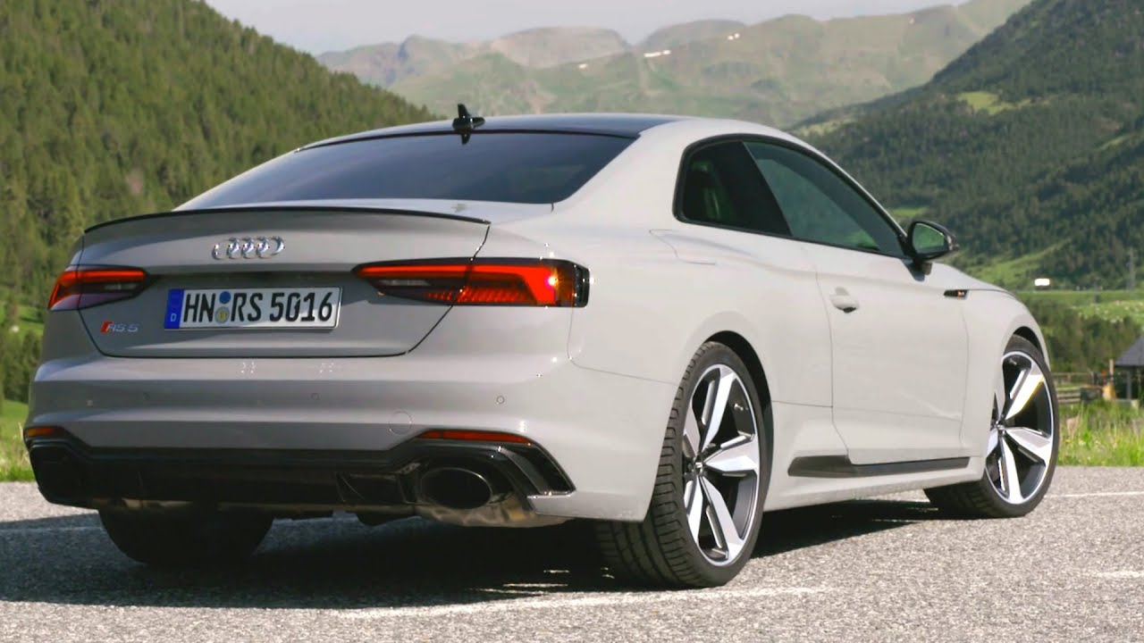 2018 Grey Audi RS 5 Coupe - 0-100 km/h Acceleration and Engine Sound - YouTube