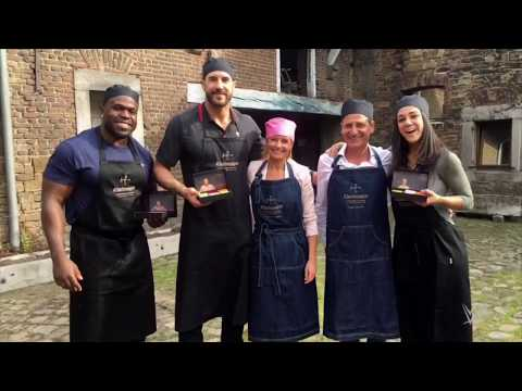 A sweet treat for WWE Superstars in Leige, Belgium