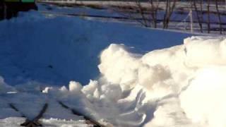 Iron Horse Park Airdrie Alberta Miniature train in the snow