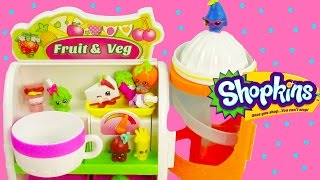 Shopkins Easy Squeezy Fruit & Vegetable Stand Slide Playset Exclusive Unboxing Review