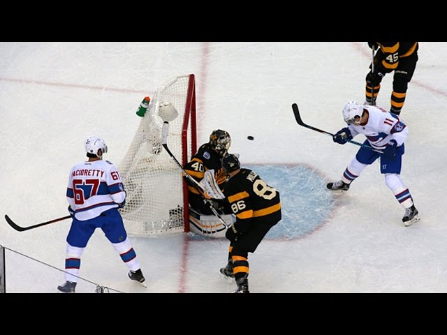 Gallagher bats Pacioretty's pass out of mid-air
