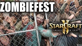 Billions of Zombies Invade a Multiplayer Game in Zombiefest Starcraft 2 Mod