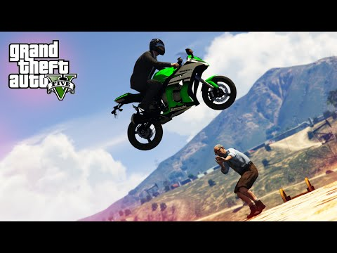 EPIC MOTORBIKE STUNT! - (GTA V Stunts & Fails)