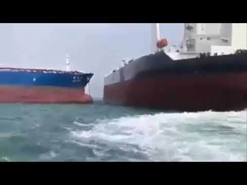 VLCC Tankers Ship Collision at Sea