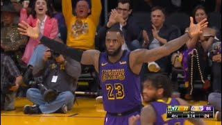 LeBron James CLUTCH ASSASSIN! Jazz vs Lakers