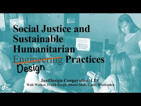Just Design: Social Justice and Sustainable Humanitarian Design Practices