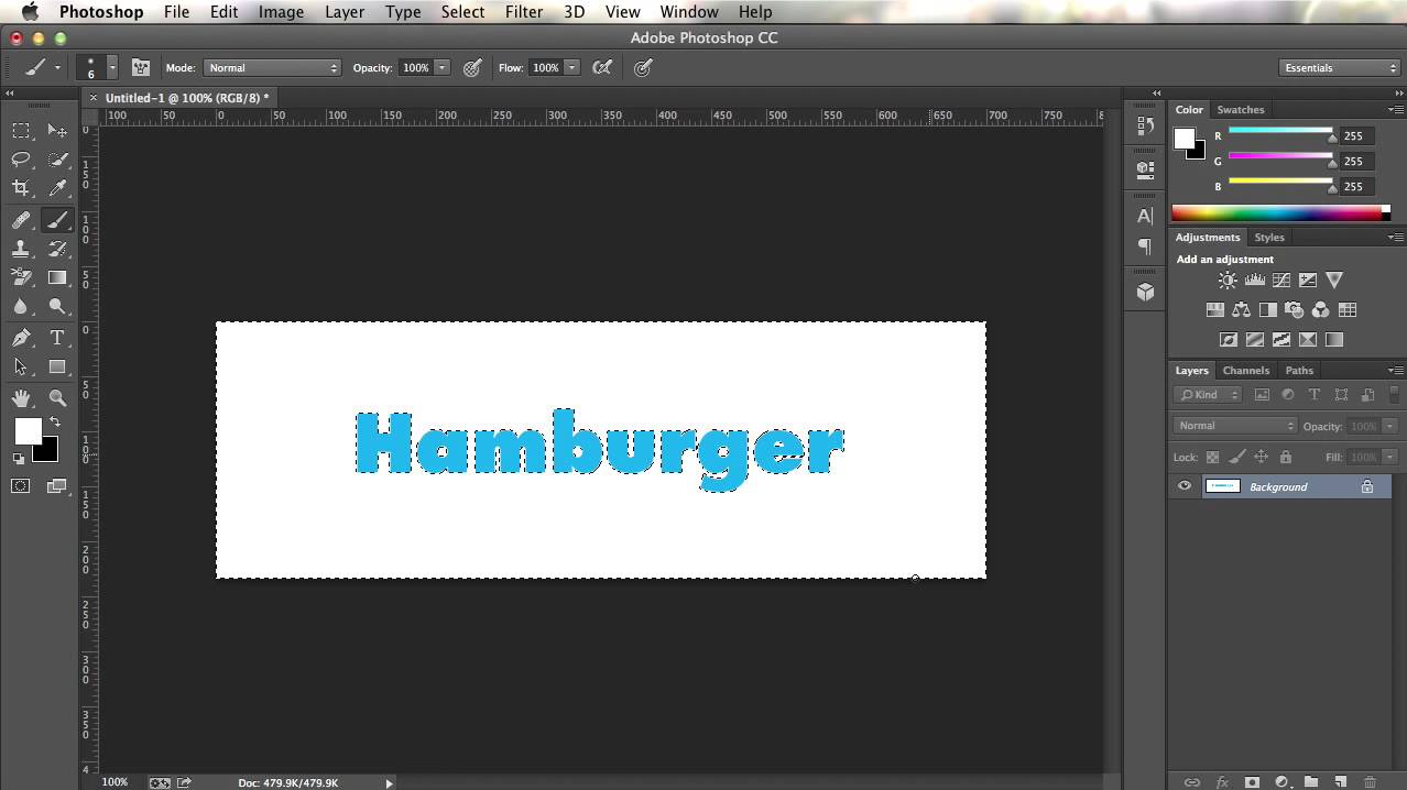 Making transparent text in Photoshop CC - YouTube
