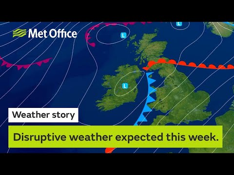 Disrupted weather expected this week