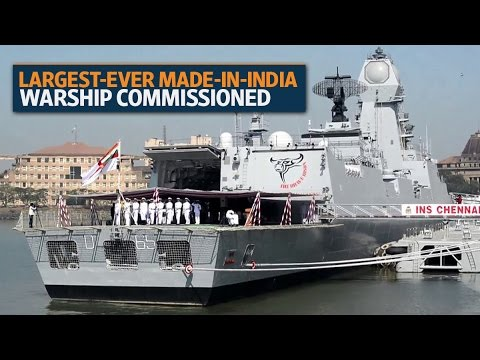 Largest-ever Made-In-India warship commissioned